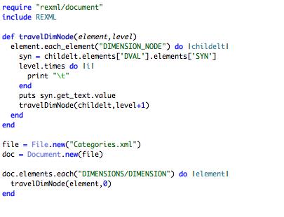 rexml code