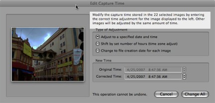 Change Time in Lightroom